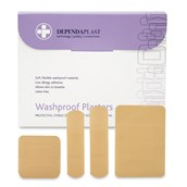 Washproof Plasters - Assorted - pack of 100