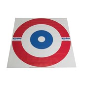New Age Kurling/Bowls House Target - White/Red/Blue - 120cm