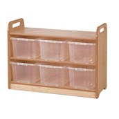 Millhouse Display Unit With Mirror with Clear Tubs