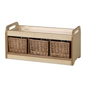 Millhouse Low Mirror Play Unit with Wicker Baskets