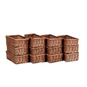 Millhouse Small Wicker Baskets - pack of 12