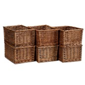 Millhouse Large Wicker Baskets - pack of 6