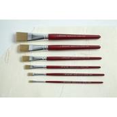 Pro Arte Junior Artist Brushes - Flat - Pack of 6