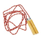 Wooden Handle Skipping Rope - Red
