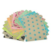 Patterned Craft Glitter Neon Paper - A4 - Pack of 30