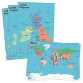 World and UK Desk Maps Pack