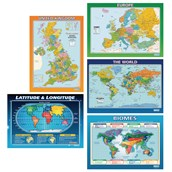 Maps Poster Pack - Pack of 5