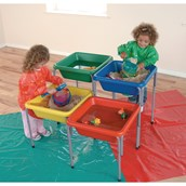 Adjustable Sand and Water Table Tub - Red