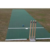 Flicx Cricket Match Pitch Practice Bat End - Green - 7.5 x 1.6m