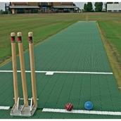 Flicx Cricket Match Pitch - Green - 22.12 x 1.8m
