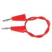 4mm Stackable Plug Leads Economy: Red, 250mm - Pack of 5