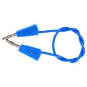 4mm Stackable Plug Leads Economy: Blue, 250mm - Pack of 5