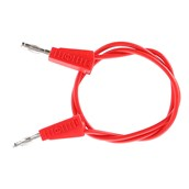4mm Stackable Plug Leads Economy: Red, 500mm - Pack of 5