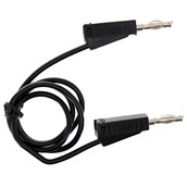 4mm Stackable Plug Leads Economy: Black, 500mm - Pack of 5
