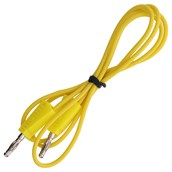 4mm Stackable Plug Leads Economy: Yellow, 1000mm - Pack of 5