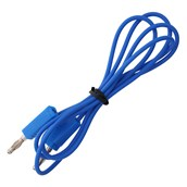 4mm Stackable Plug Leads Economy: Blue, 1000mm - Pack of 5