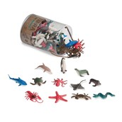 Terra by Battat Miniature Sea Animals in a Tube - Pack of 60