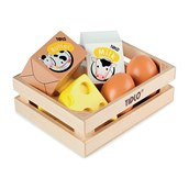 Tidlo Wooden Food Crate - Eggs and Dairy