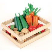 Wooden Role Play Winter Vegetables Crate