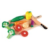 Tidlo Chunky Wooden Cutting Sets - Vegetables