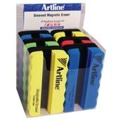 Grooved Artline Magnetic Board Eraser  Assorted - Pack of 6