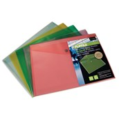 Flipfile Recycled Popper Wallet A5 Assorted - Pack of 5