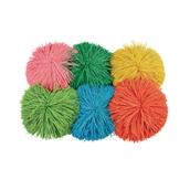 Pom Pom Balls - Assorted - Pack of 6