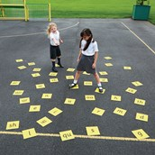 44 Phonics Floor Tiles from Hope Education