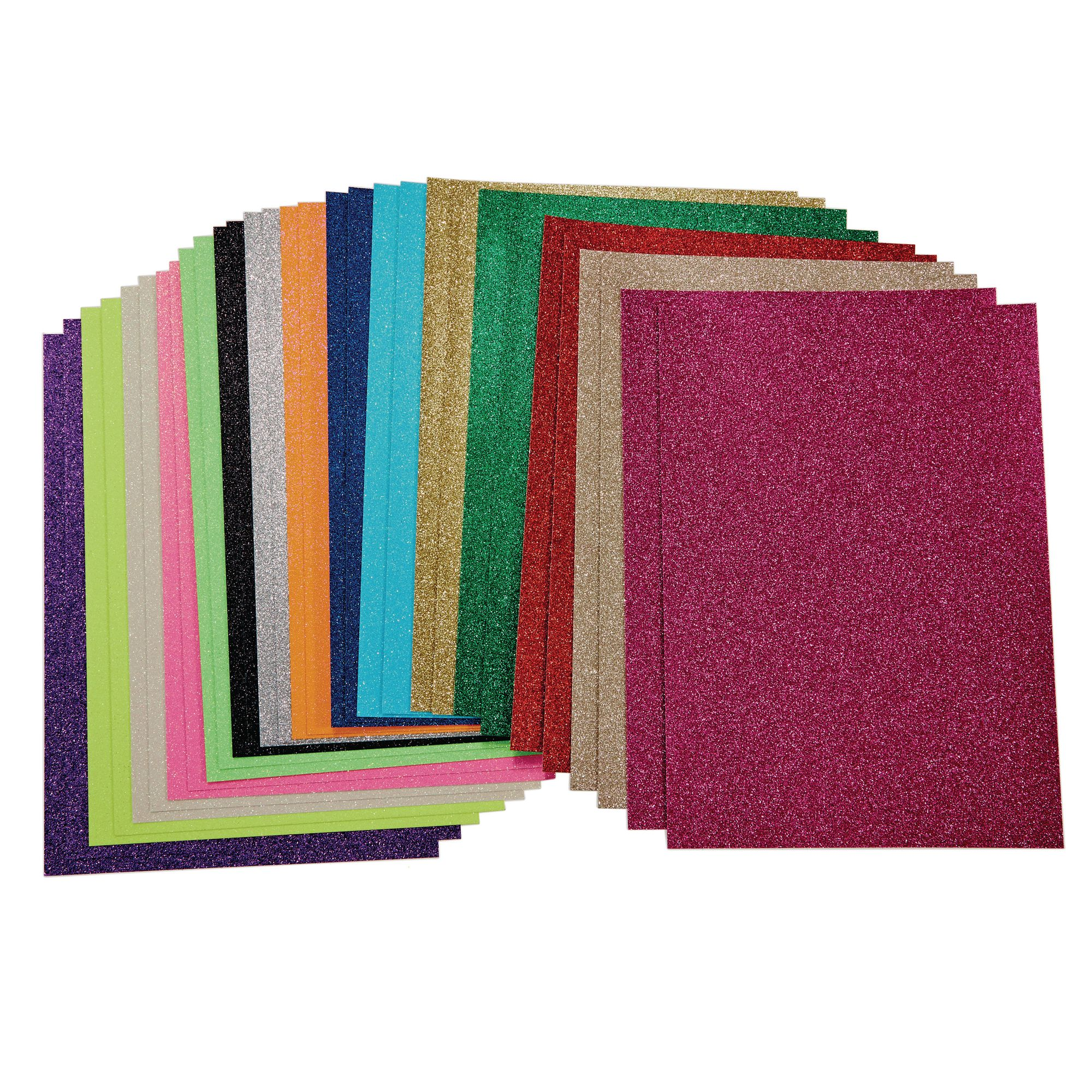 G1560012 Glitter Card A4 Pack Of 30 Gls Educational Supplies