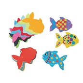 Jumbo Paper Fish Shapes - Pack of 100
