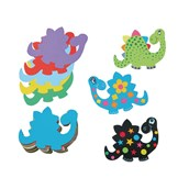 Jumbo Paper Dinosaurs Shapes - Pack of 100