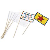White Canvas Flags - Pack of 12