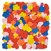 Classmates Heart and Flowers Foam Shapes