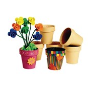 Decorate Your Own Flowerpots - Pack of 12