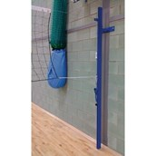 Universal Wall-Mounted Volleyball Posts - Blue - Pair
