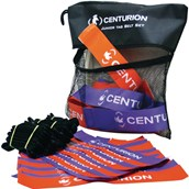Centurion Junior Tag Rugby Belt Set - Purple/Orange - Pack of 20