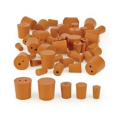 Red Rubber Stoppers: Bundle, Mixed Types - Pack of 50
