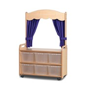 Millhouse Mobile Tall Unit Theatre with 6 Clear Tubs