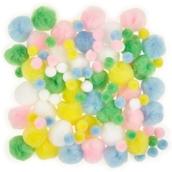 Classmates Pastel Pom Poms - Pack of 100