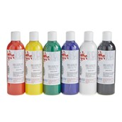 Scola Fabric Paint - 300ml - Standard Colours - Pack of 6