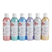 Scola Fabric Paint - 300ml - Pearlescent Colours - Pack of 6