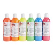 Scola Fabric Paint - 300ml - Fluorescent Colours - Pack of 6