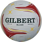 Gilbert Blaze Match Netball - Red - Size 4