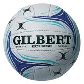 Gilbert Eclipse Match Netball - White/Blue - Size 5