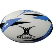 Gilbert G-TR3000 Training Rugby Ball - White/Blue - Size 5