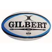 Gilbert Omega Match Rugby Ball - Blue/Black - Size 3