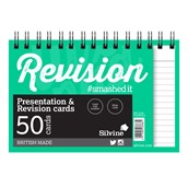 Silvine Luxpad Twinwire Presentation & Revision Cards - 152 x 102mm (50 cards per pack) - Pack of 10