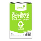 Silvine Recycled Shorthand Notebooks - Pack of 12