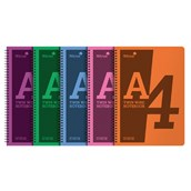 Silvine Polyprop Notebooks - Assorted - A4 - Pack of 5