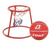 Floor Basketball Set - Red - Size 5
